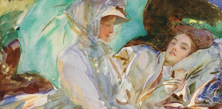 John Singer Sargent's watercolor paintings at Museum of Fine Arts, Boston - Tuesday, October 22, 2013.