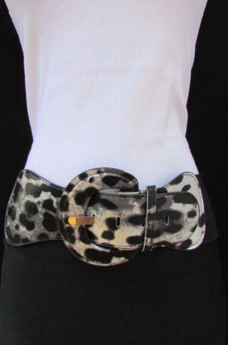 23.94$  Watch here - http://vixac.justgood.pw/vig/item.php?t=pu5nty47455 - Neu Damen Elastisch Modischer Gürtel Leopard / Zebra Silber Gold Weiß Größen XS