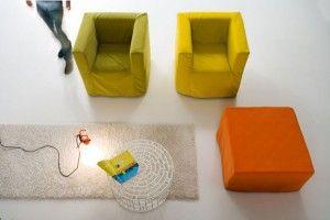 OPLA poltrone letto e pouf letto Sofa Club