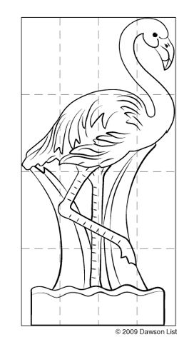 Template for pink flamingo drawing - Google Search