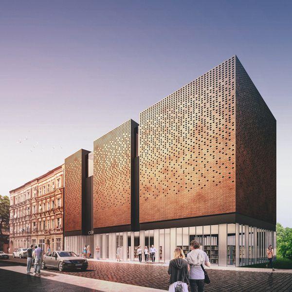 Library in Wrocław by Klawe Biuro , via Behance