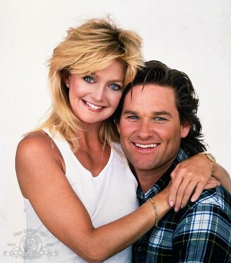 Goldie Hawn and Kurt Russell in