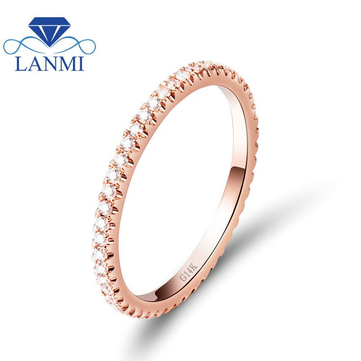 real diamond women wedding ring in solid rose gold wedding ringcheap gold ring for sale - Wedding Rings On Sale