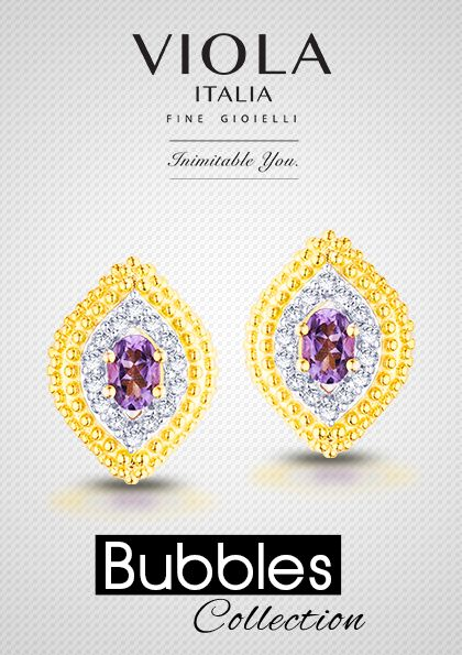 The bubbles collection creates an effervescent casing for majestic Amethyst stone, forever sparkling and endearing.