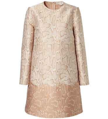 Stella McCartney - Shiftkleid mit Python-Muster Rosé/Multi