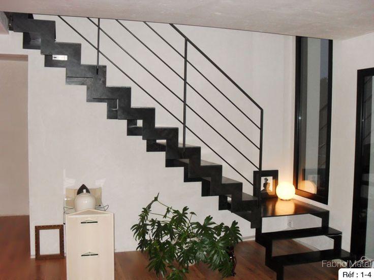 36 best escalier a cremaillere images on Pinterest Stairs, Modern - fabriquer escalier exterieur bois
