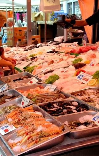 Seafood for Sale at Amsterdam's Albert Cuyp Market