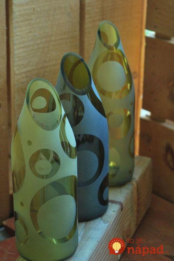 Prázdne fľaše od vína sa z času na čas nájdu hádam v každej domácnosti. Došli vám nápady, ako ich využiť a preto fľaše jednoducho vyhadzujete? Čo by ste povedali na to, keby tieto fľaše charakteristického tvaru vyzerali celkom inak? Stačí poznať túto jednoduchú metódu a môžete krásne kúsky ako z luxusného obchodu. Pozrite sa, ako...