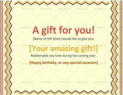 Gift Certificate Template PDF #giftvoucher #giftcertificate #certificate # Voucher #giftvoucher #giftcertificatetemplate  Gift Certificate Wording