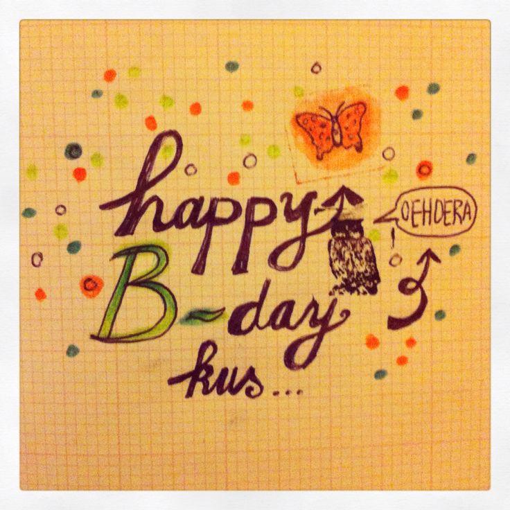 Happy Birthday wish! Made by Ati van Twillert