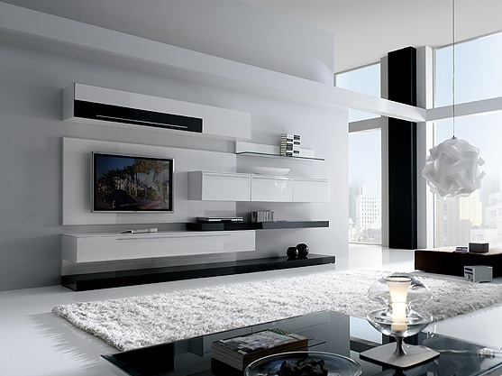 Living Room Wall Units Ideas Modern Living Room With Boss Modern Wall Unit 5