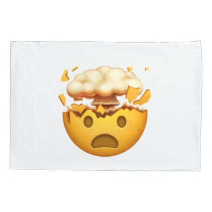 #Shocked Face With Exploding Head - Emoji Pillowcase - #Pillowcases #Pillowcase #Home #Bed #Bedding #Living