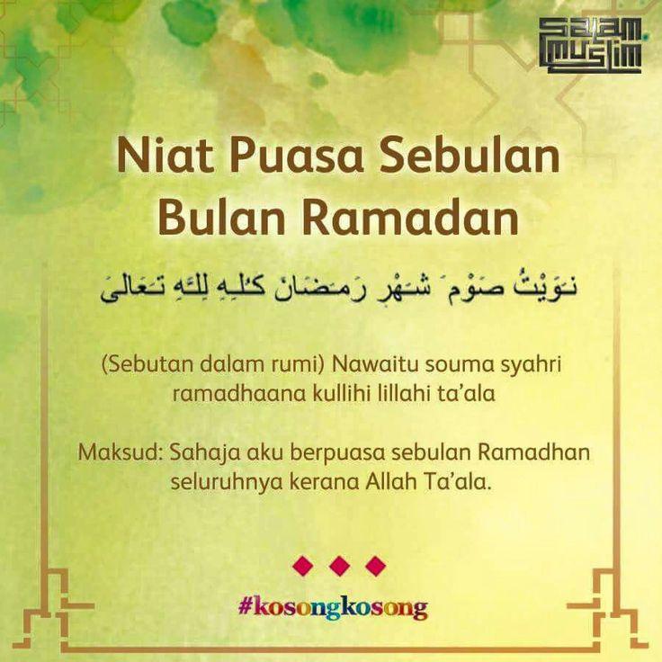Niat Puasa Sebulan Bulan Ramadan