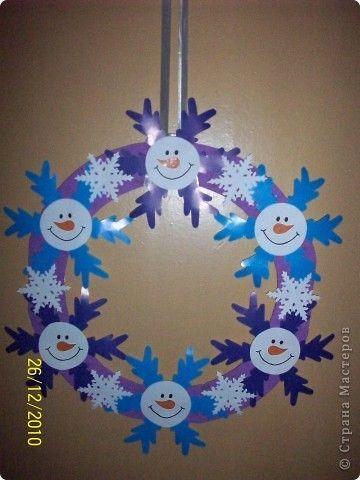 couronne bonhomme de neige activité enfant