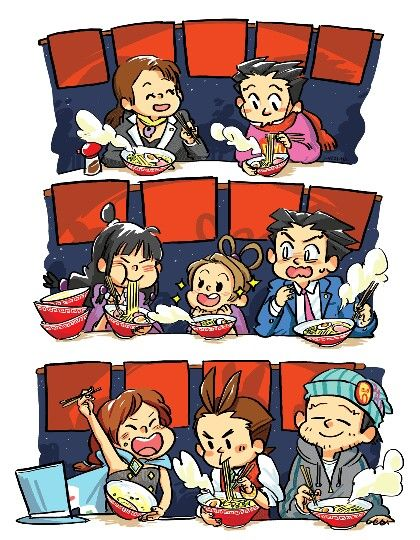 Phoenix Wright. Would be 100% more perfect if there was two more. One in the beginning with Edgeworth, Larry and pheonix as kids and one at the end with Athena too.
