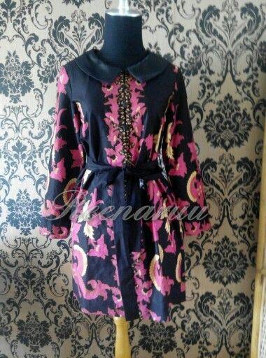 Semiformal batik mini dress #customer #thankyou