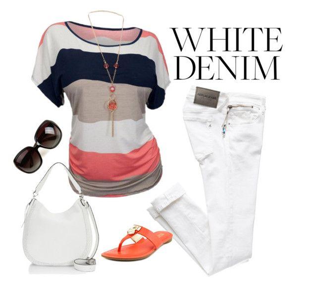 """""""white#denim#summer#137"""" by bidlekerika on Polyvore featuring Rebecca Minkoff"""