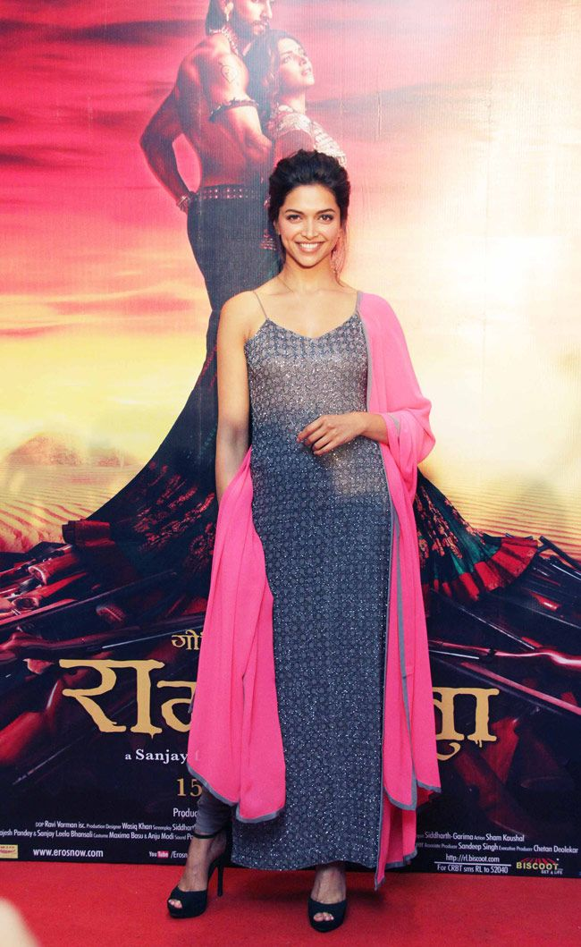 Deepika Padukone promotes Ram-Leela in Delhi. #Bollywood #Fashion #Style #Beauty