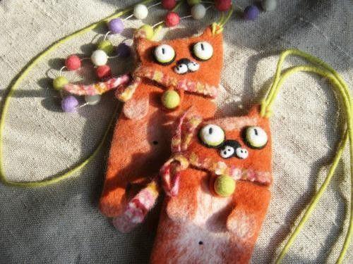 Изделия из войлока: Котики