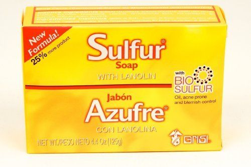 Sulfur Soap with Lanolin (4 pack) by Grisi. Save 4 Off!. $9.62. Acne Treatment. Grisi Sulfur with Lanolin Soap. Grisi Sulfur Bar Soap is good for Acne Treatment.  Sulfur treatment, when used regularly, is effective in the treatment of acne. It may take 1-8 weeks for an improvement to occur in the skin, depending on the severity of each case.  DIRECTIONS:  Wet affected area with warm water. Apply Grisi Sulfur soap and make abundant suds. Leave on for 10 minutes. Then rinse with cold water…