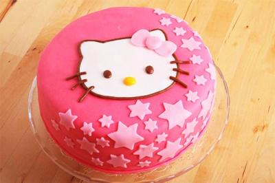 Hello Kitty fondant cake - Shekinah really likes this one.