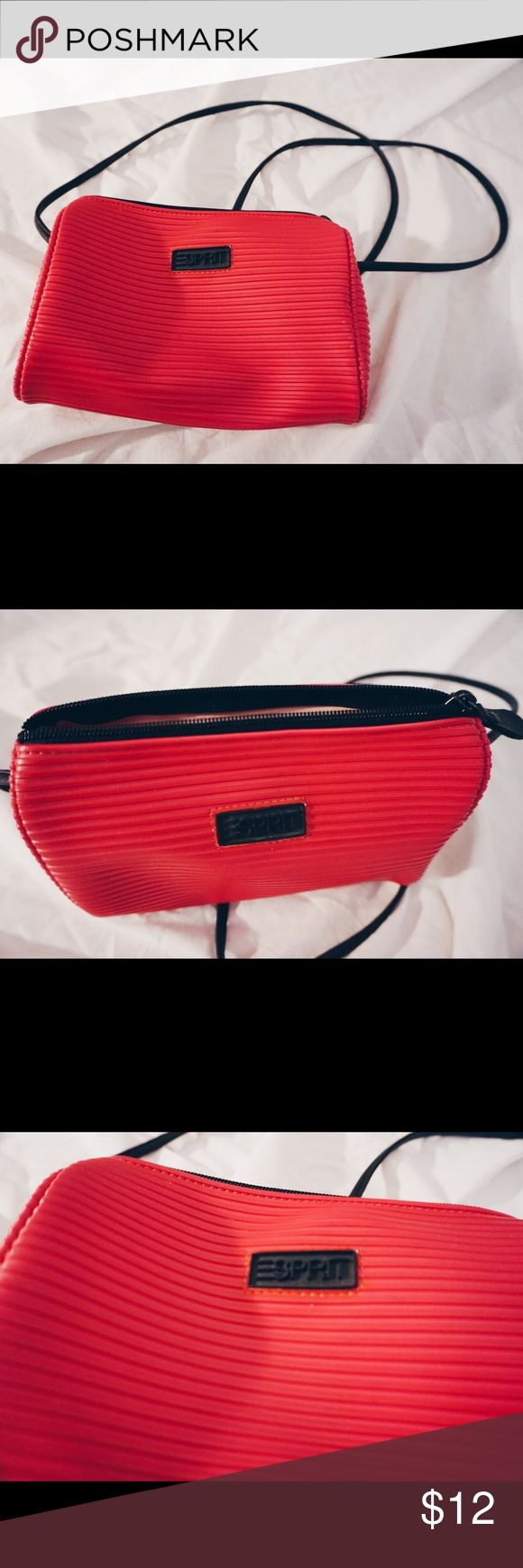 ESPIRIT HOT PINK CROSSBODY BAG ESPIRIT HOT PINK CROSSBODY BAG  Small CROSSBODY bag made with a rubber material, easy to clean. Perfect small bag for summer days and an athleisure look like Gigi Hadid does.  GREAT CONDITION WORN TWICE - not UO for promo Urban Outfitters Bags Crossbody Bags