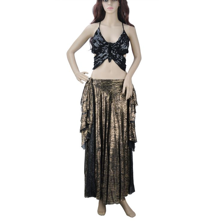 Opentip.com: BellyLady Tribal Belly Dance Costume, Halter Top And Full Circle Skirt Set
