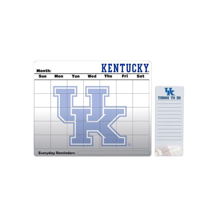 Kentucky Wildcats Dry Erase Calendar & To-Do List Pad Set, Multicolor