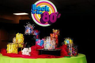 Setting the Mood: BACK TO THE 80's-The Candy Buffet Table