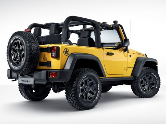 "Have a Yellow Jeep Wrangler? Join the club on Facebook: ""Yellow Jeep Club"""