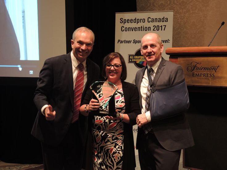 Speedpro Canada would like to congratulate Tammy Schlamp of Speedpro Signs Red Deer on winning the 'Speedpro Signs Franchise of the Year' award at our recent Speedpro Convention! Well deserved Tammy!