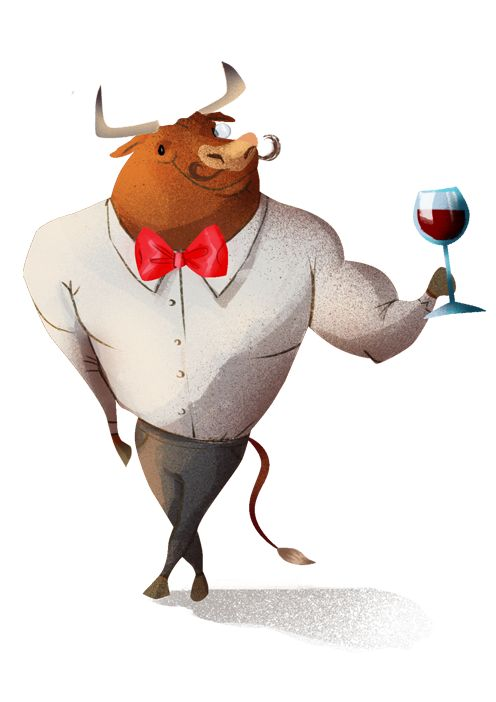 bull- character design illustration on Behance
