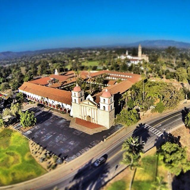 Unique view of the Santa Barbara Mission!