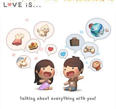 'Love Is', Sebuah Kisah Cinta Yang Dituangkan Dalam Gambaran Imut | M.Kapanlagi.com