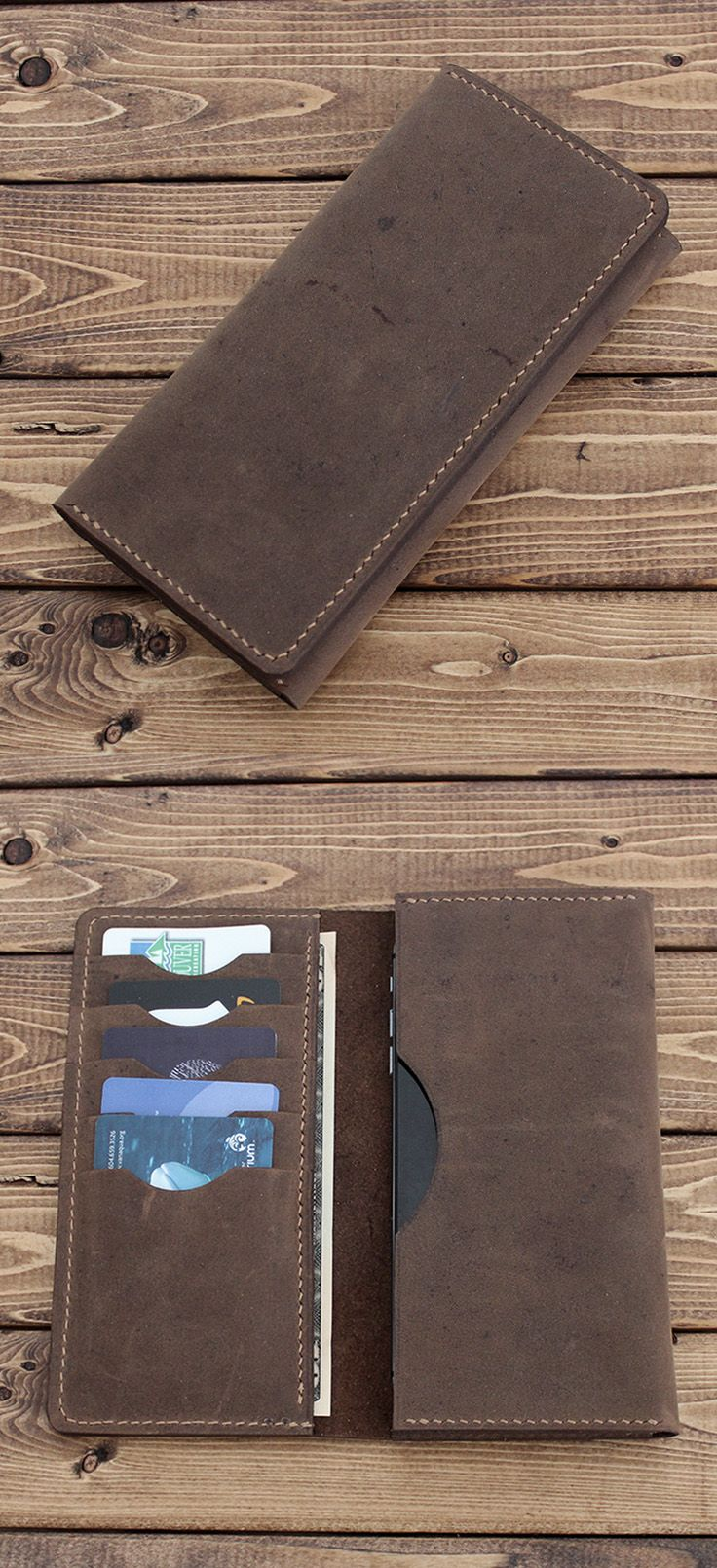 Hand Stitched Sleeve Wallet for iPhone / Galaxy / Nexus / Pixel / Oppo / HTC / L…