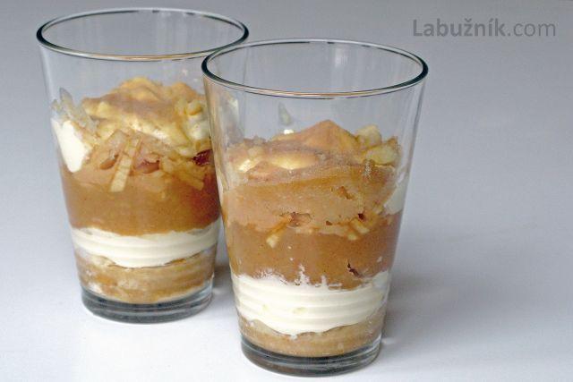 Jablečný pohár s mascarpone