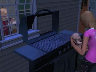 WHY IS THE WOMAN JUST STANDING THERE LOOKING AT HER BABY BEING GRILLED