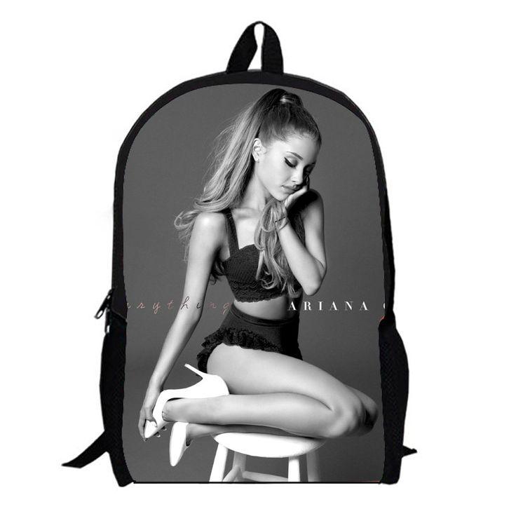 Pop Star Ariana Grande R&B hiphop disney singer teenage school backpack bag student laptop book college teens