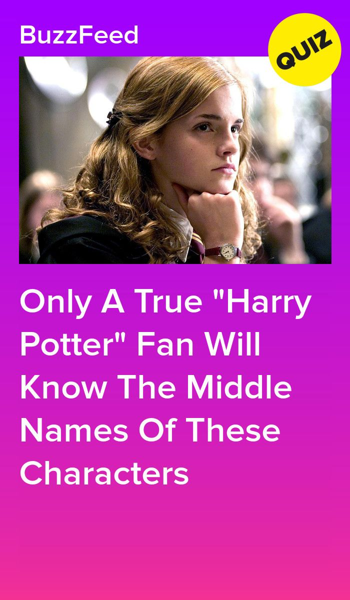 Do You Know The Middle Names Of These Harry Potter Characters Harry Potter Characters Harry Potter Character Quiz Harry Potter Characters Names