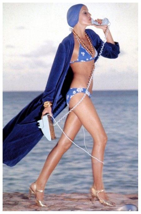 Jerry Hall, Montego Bay, Jamaica, Vogue, 1975 Photo Norman Parkinson