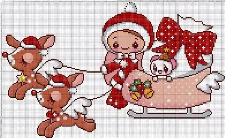 Natale punto croce