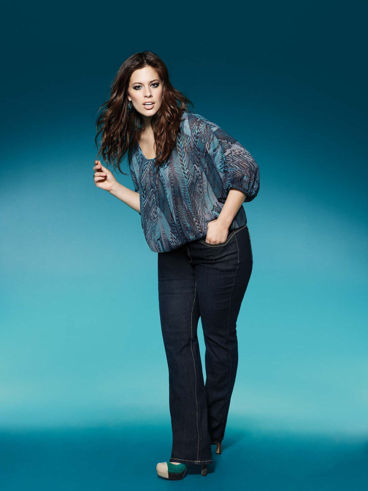 ashley graham, designer jeans, plus size, addition elle