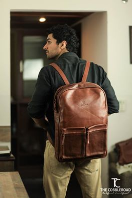 Old School Travel Bag- This old school bag is a reminiscence of the classic school backpack. visit to buy now: http://goo.gl/pv0N3Y www.thecobbleroad.in