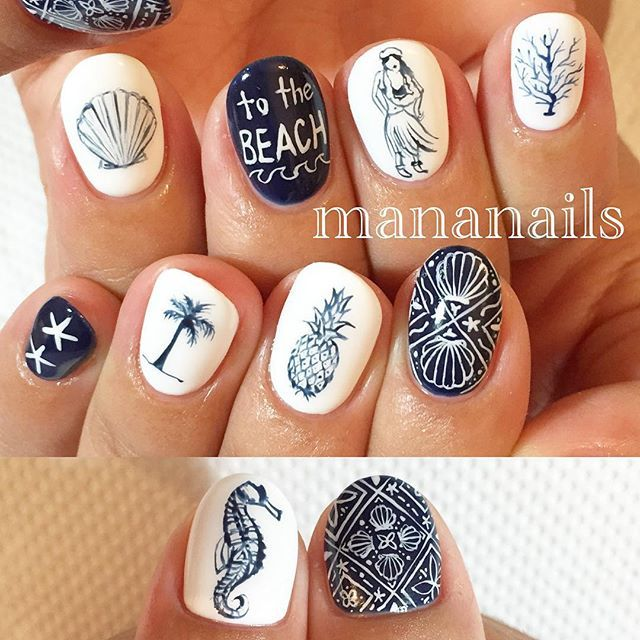 Instagram media by mananails - summer