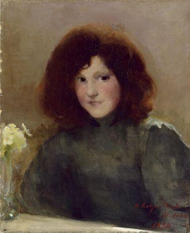"""Helene Schjerfbeck, """"Read Head Girl"""""""