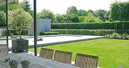 Tuinarchitect tuinontwerp moderne minimalistische strakke - Moderne tuinfoto ...
