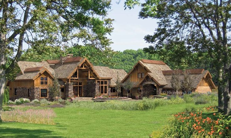 1000 images about rustic timber frame home ideas on for Rustic timber frame house plans