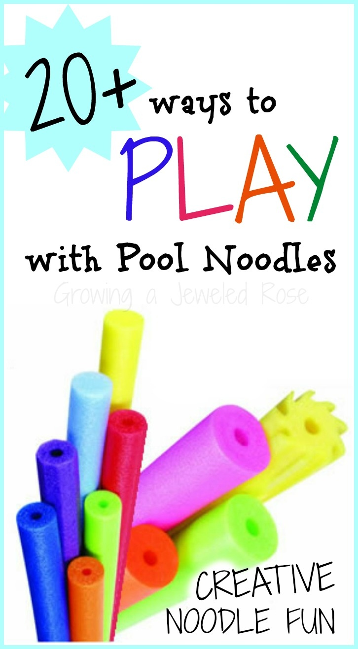 20 SUPER FUN ways to use those noodles outside of the pool!  Frugal PLAY for Kids!