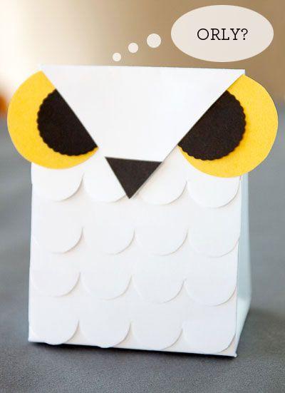 Free Printable Snow Owl Treat Bag for Halloween