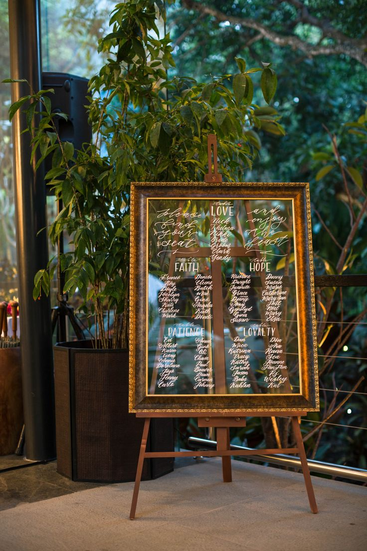 Tropical Destination Wedding Seating Chart